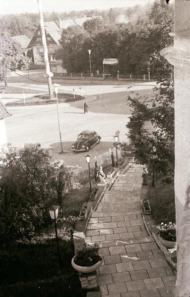 Tannenhof, Marktplatz, Grünwald; 30 September 1956