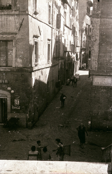 Via di Tor di Nona, Rome; 26 September 1956