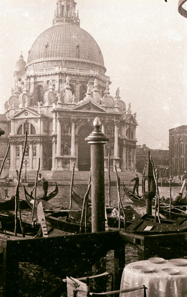 Looking at Santa Maria della Salute across the Grand Canal from the Hotel Regina restaurant