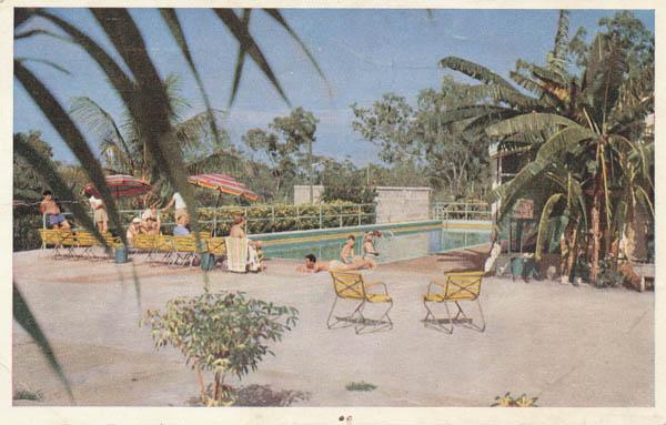The swimming pool at Berrimah Rest House, Darwin, N.T. (Qantas E