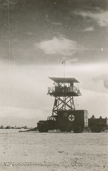 Control tower at US Air Force camp, most likley Fenton Airfield