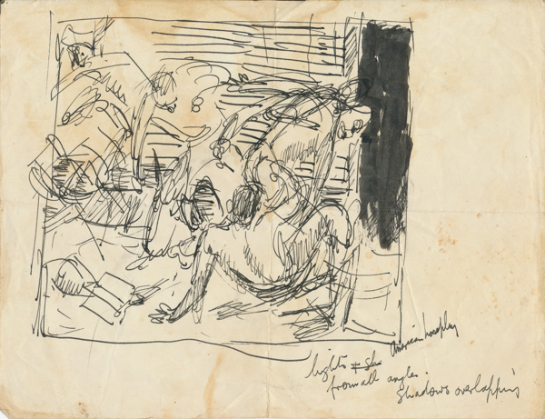Study for: Horseplay in the officer quarters. A US aircrew off duty