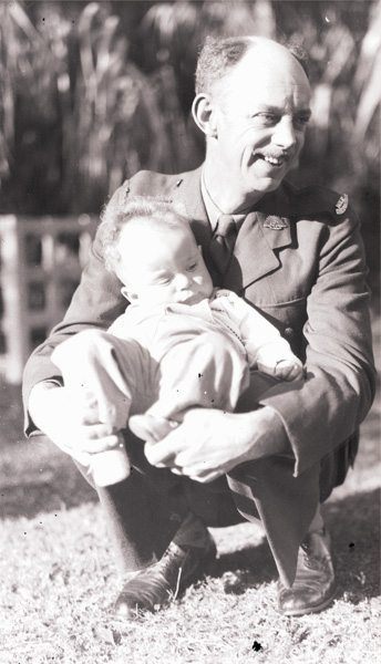 W.E. Pidgeon (WEP) with son Graham at home in Northwood about Ja