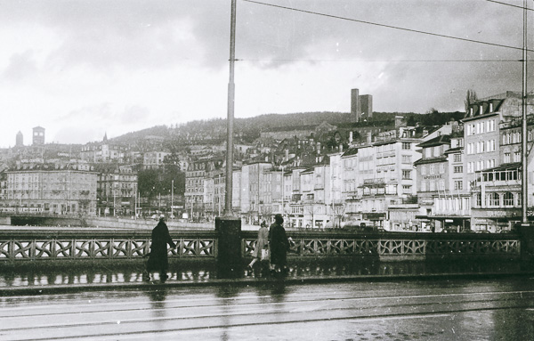 Uraniastrasse Bridge, Zurich, Switzerland; 28 November 1956
