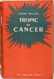 Tropic of cancer by Henry Miller (1934?)
