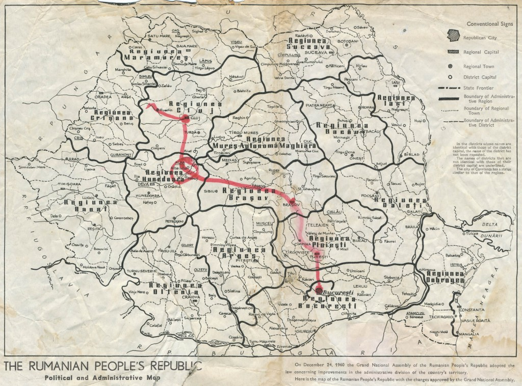 The Rumanian People's Republic, Political and Administrative Map, Rumania Today, No 2, 1961, p2