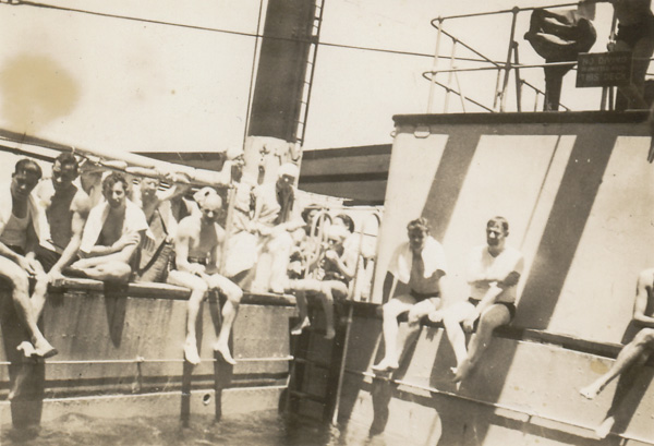 Swimming pool, SS Monterey; 18 Nov 1937