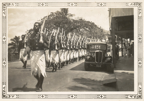 Police Band at the Opening of Parliament, Suva, Fiji; 23 Nov 193