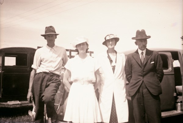Family members in New Zealand. John Gay Butterworth on right wit