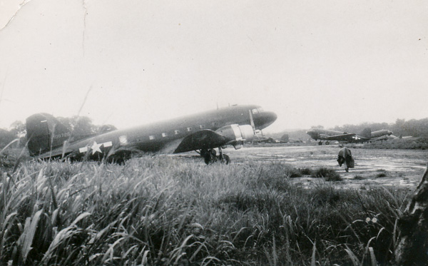 US Army Douglas C47 transport planes at what is believed to be H