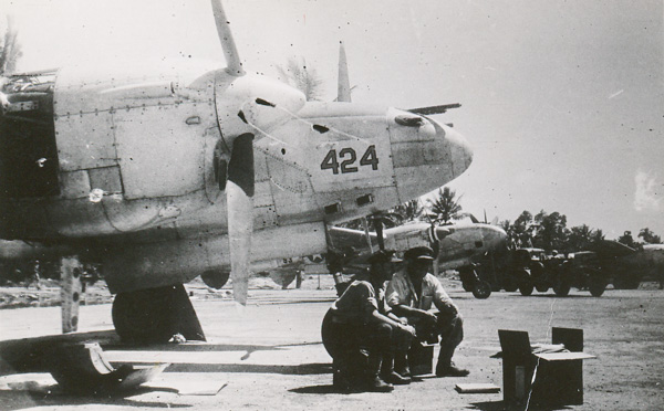 P38 Lightnings at Morotai airfield