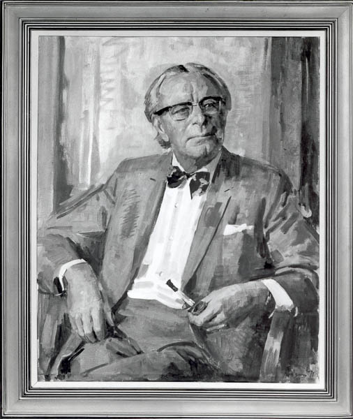 Portrait of Jerry Wilkes, President 1966-67, The Journalists' Club, Sydney by W.E. Pidgeon 1971