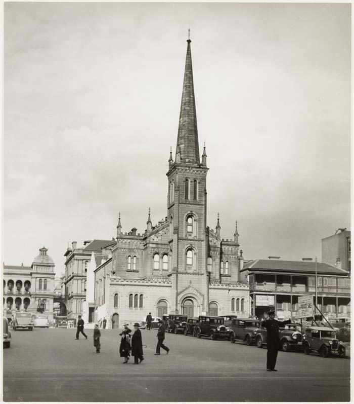 "St. Stephen's Church, Phillip Street, Sydney. The church was demolished just after Wep's wedding to make way for the Martin Place extension and a new church built in Macquarie St. [Photo - Sydney Architecture Images- ""Gone but not forgotten"", St Stephen's Church, http://sydneyarchitecture.com/GON/GON126.htm, viewed 20 Aug 2016]"